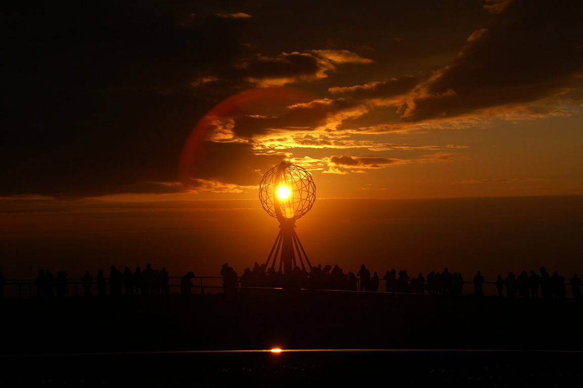 nordkapp   north cape   polar days   norway   nordkapp globe   midnight sun   travel   the man in the front seat   bwd vacations