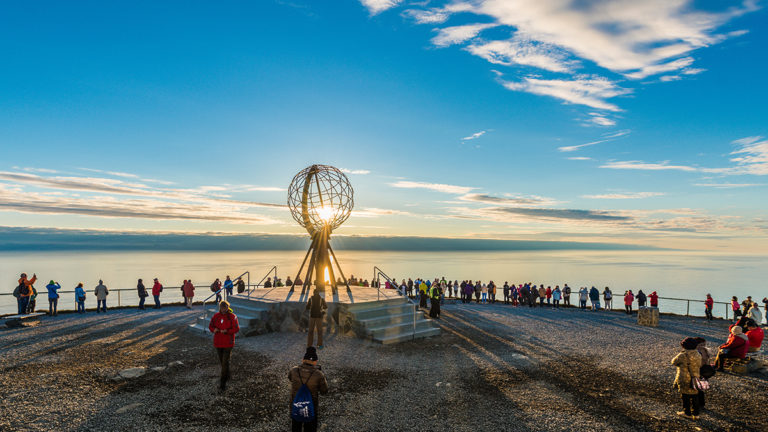 nordkapp | north cape | norway | nordkapp globe | midnight sun | travel | the man in the front seat | bwd vacations