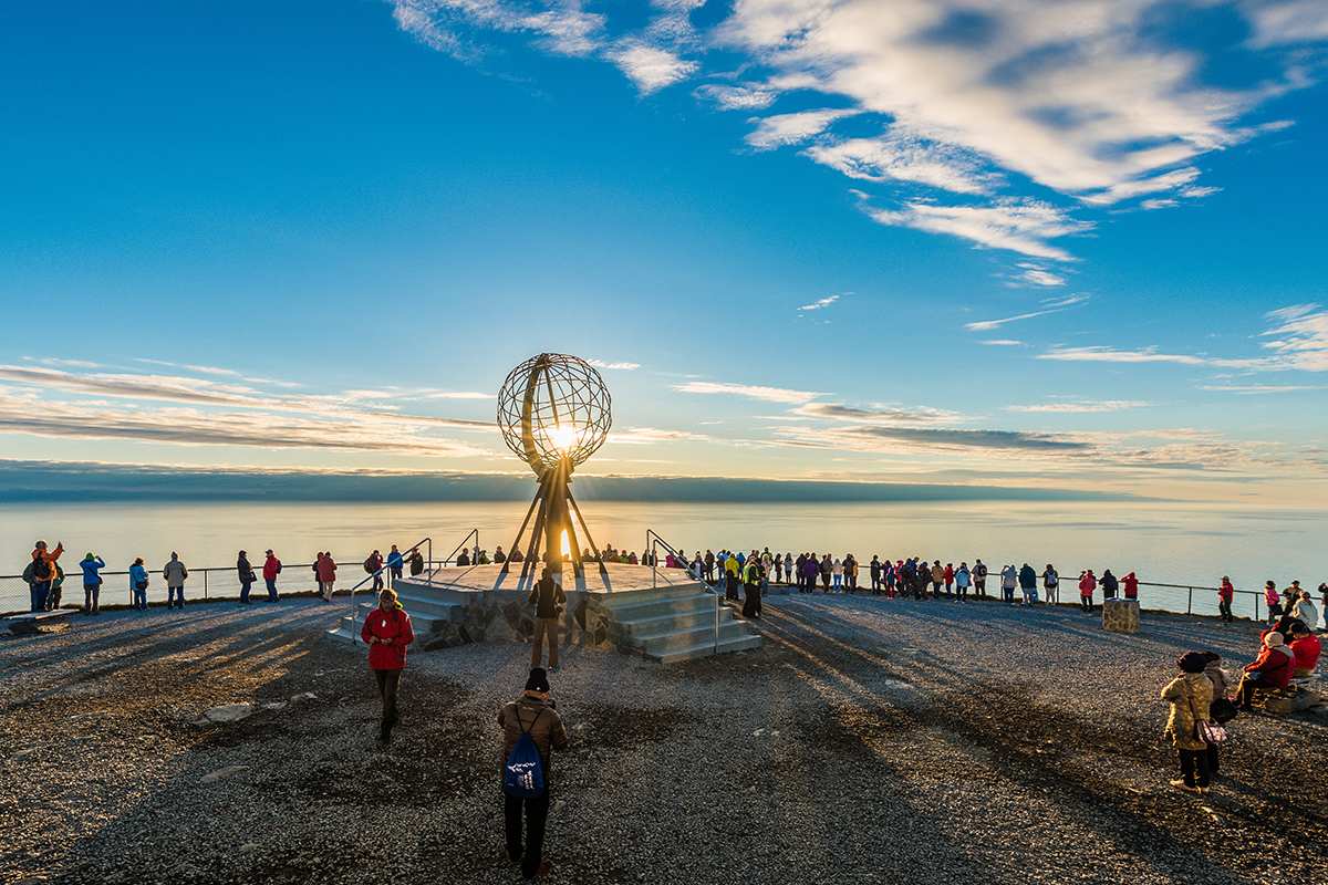 nordkapp   north cape   norway   nordkapp globe   midnight sun   travel   the man in the front seat   bwd vacations